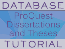 Dissertation and thesis databases