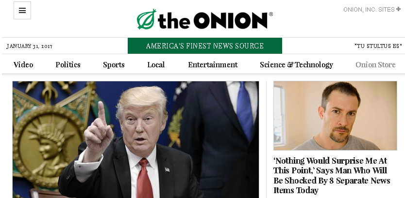 The Onion - Satirical Newspaper