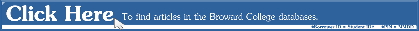 Find articles in the Broward College Databases
