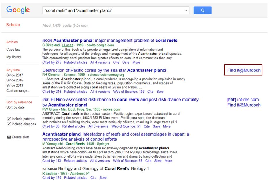 Exercise 5 google scholar bio103 searching the scientific google scholar bio103 searching the scientific literature subject guides at murdoch university ccuart Image collections