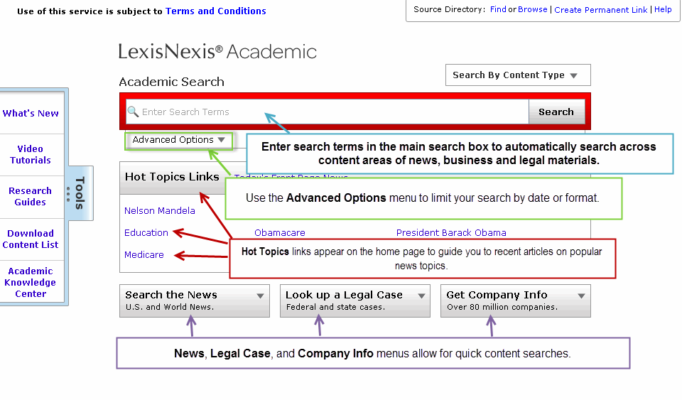 Lexis Nexis Search Screenshot