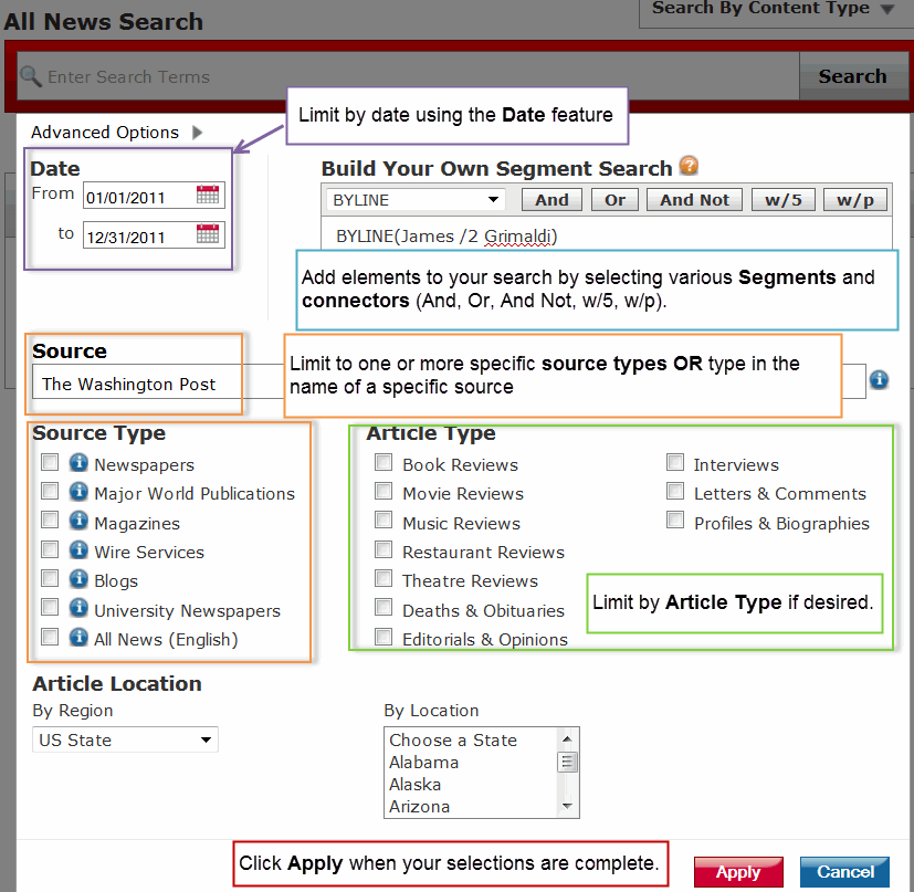 Lexis Advanced Options News Screenshot