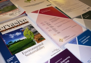 Photo of some journal covers. Also a link to further information about library journals