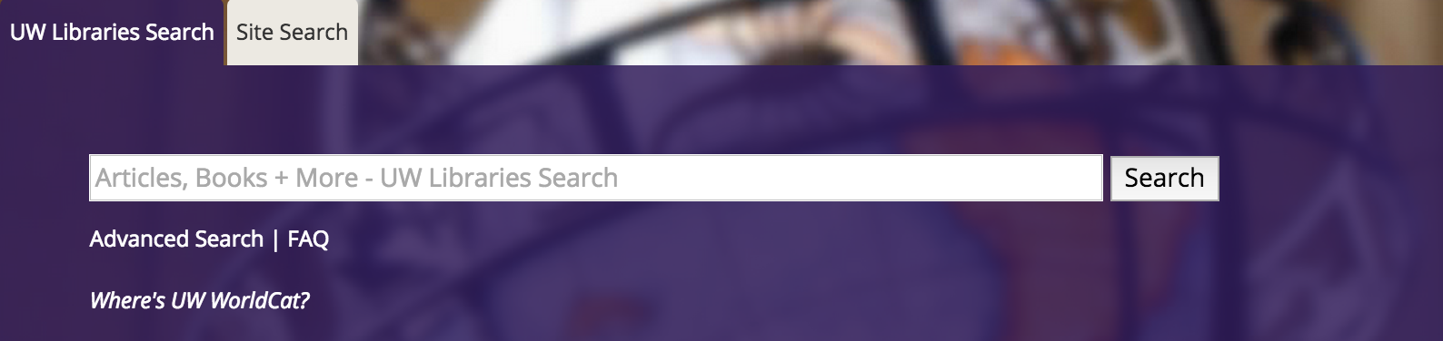 UW Libraries Search Box