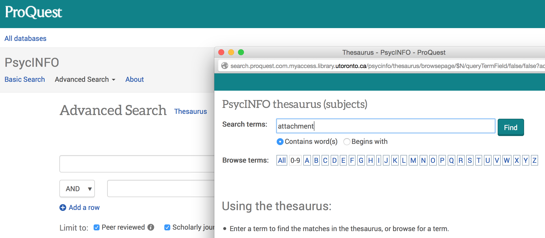 Where can i find empirical research documents online for psycholoy?