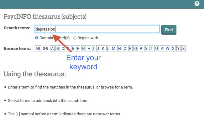 Thesaurus assignment