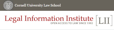 Cornell University School of Law Legal Information Institute logo