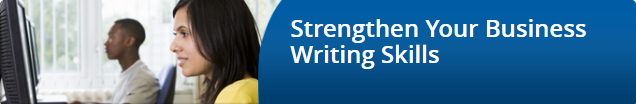 Strengthen you business writing skills image