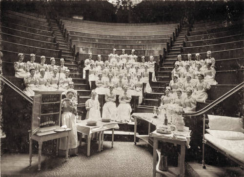 Nursing students in classroom auditorium