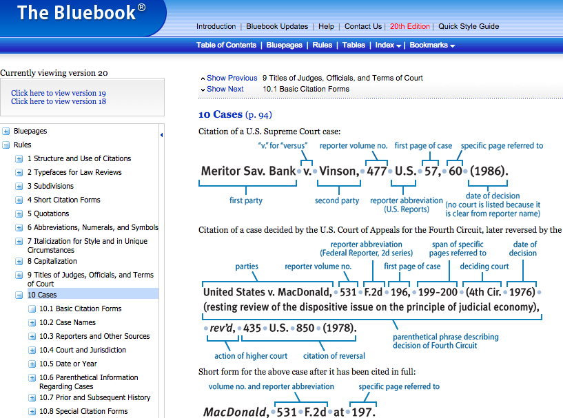 Bluebook formats bluebook 101 library guides at university of the bluebook online the current 20th edition of the bluebook is available online from the publishers website the online version gives you access for a ccuart Images
