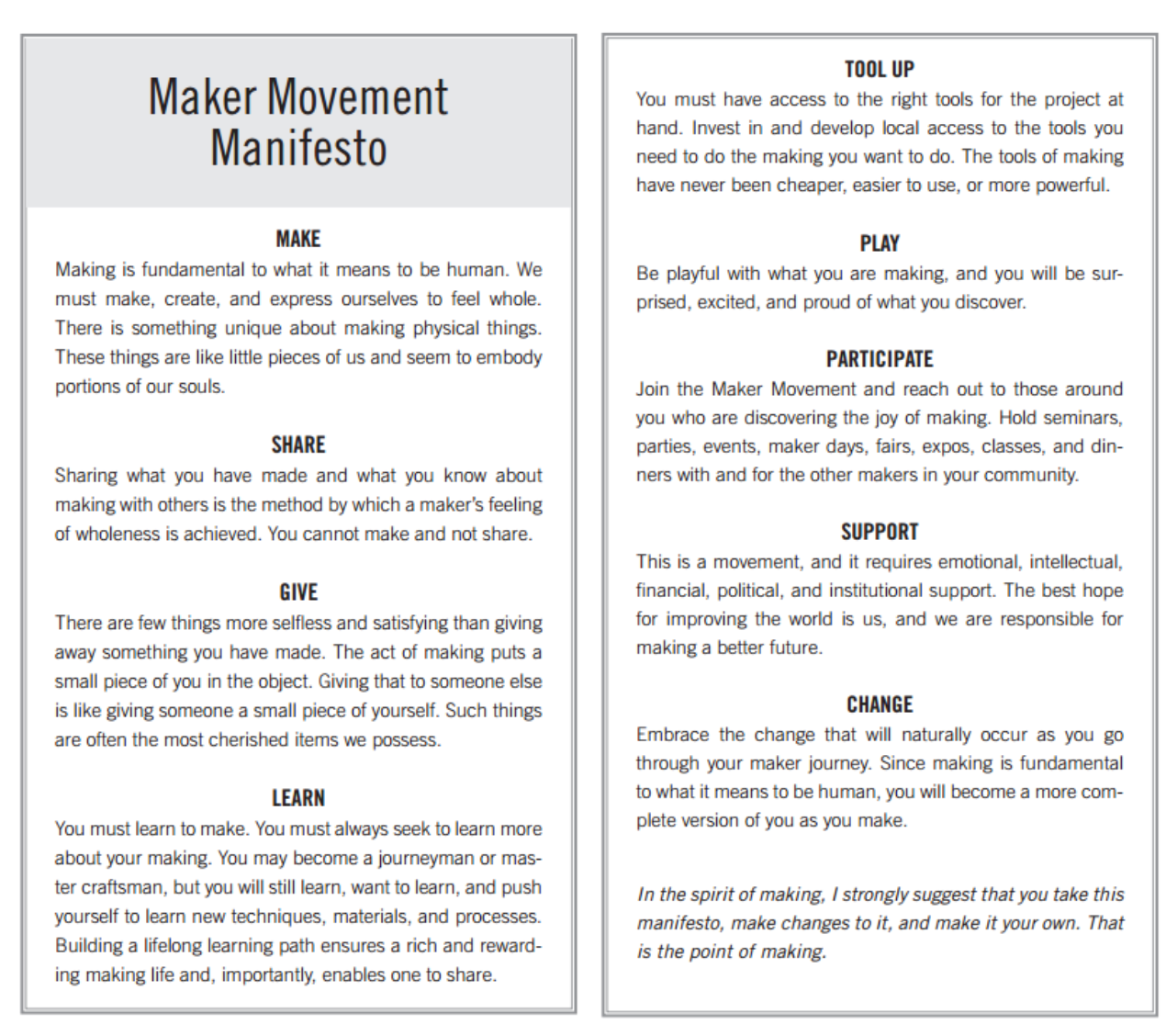 The Maker Movement Makerspace Libguides At Indian