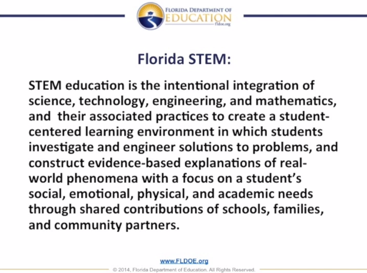 Florida Department of Education STEM Definition
