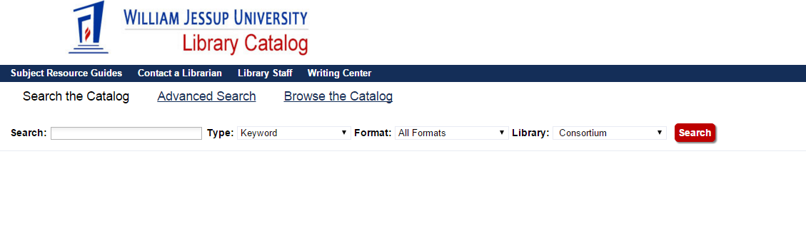 Screenshot of the library catalog interface