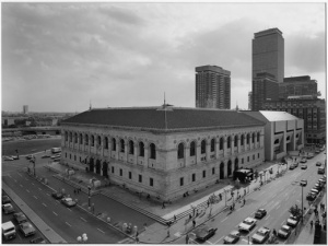 The Boston Public Library in 1974
