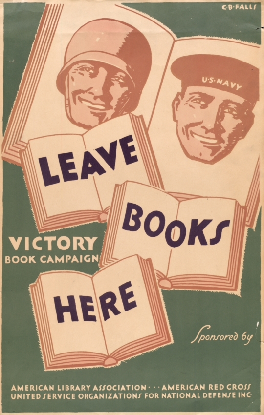 A poster advertising the Victory Book Campaign
