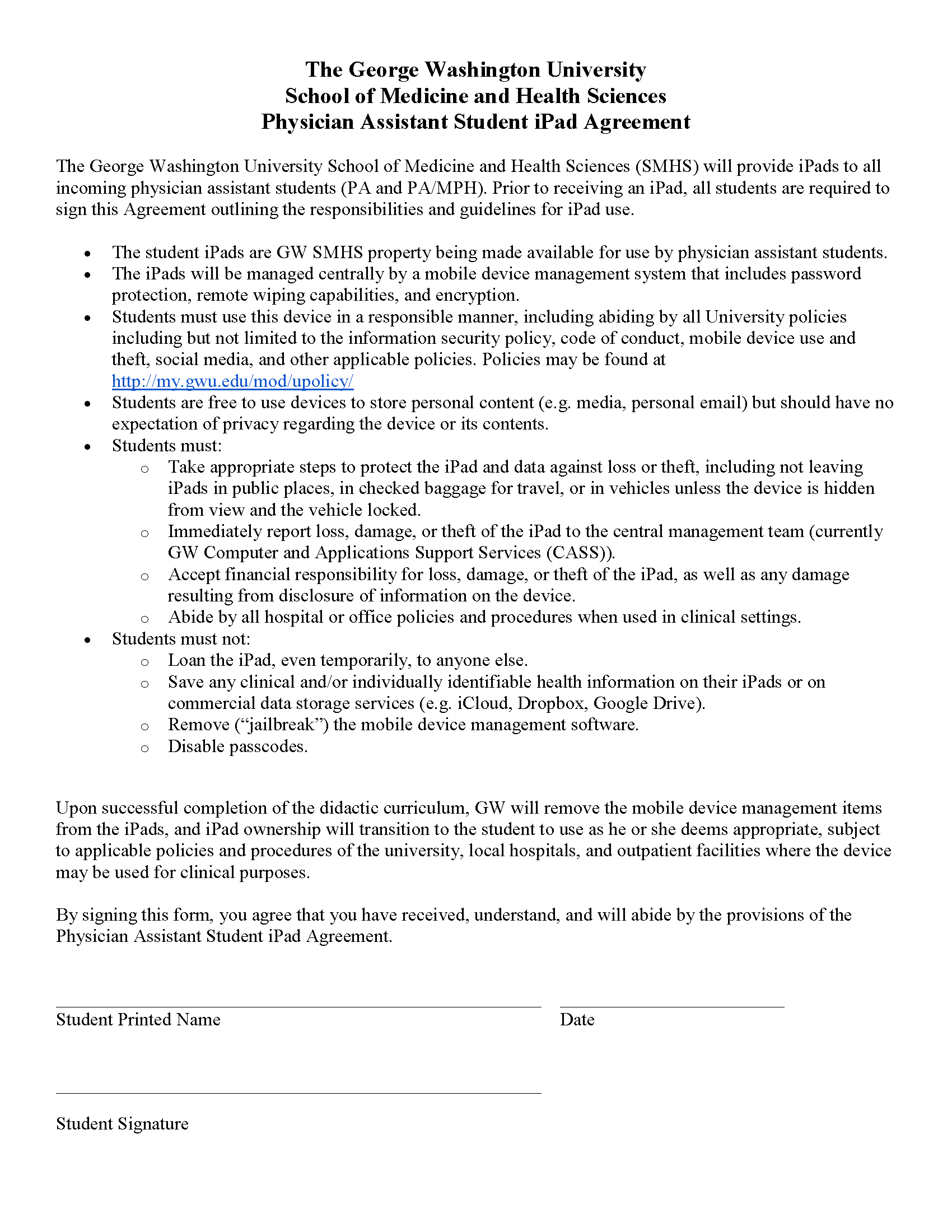 Ipad Student Agreement Ipads For Pa Students Research Guides At