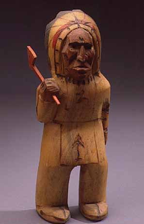 Native American carved figurine