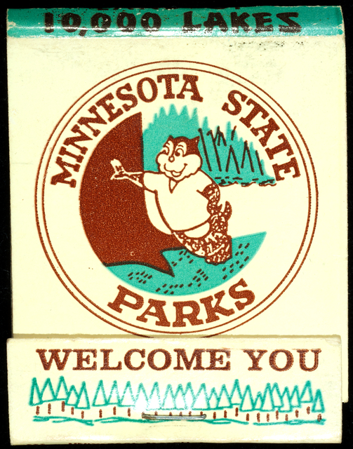 Minnesota State Parks matchbook, c. 1970