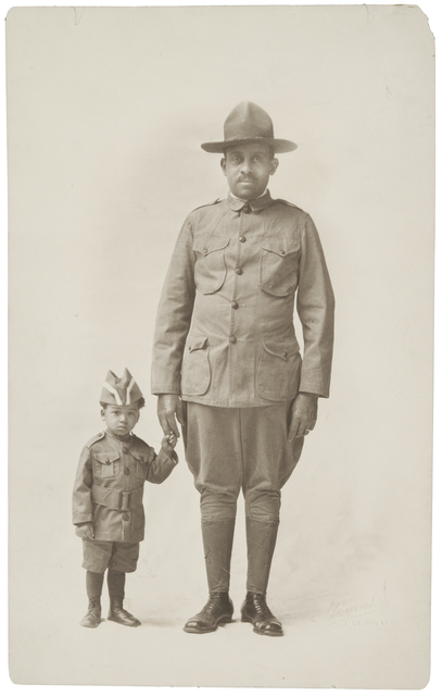 Dr. O. D. Howard, First Sergeant in the Home Guard, and his grandson Raymon Howard Maxwell, 1918
