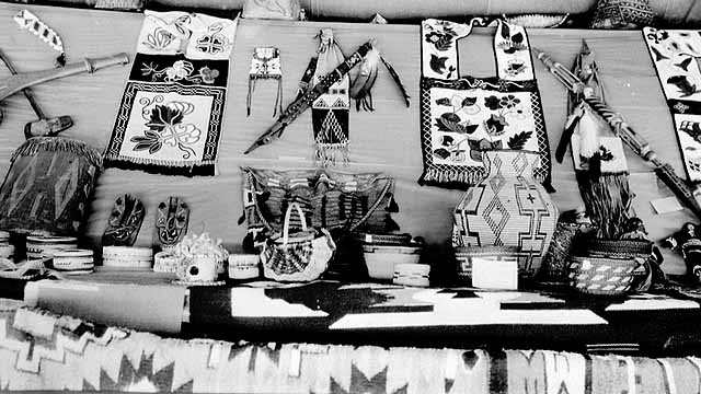 Indian crafts at Mille Lacs Trading Post, c. 1935