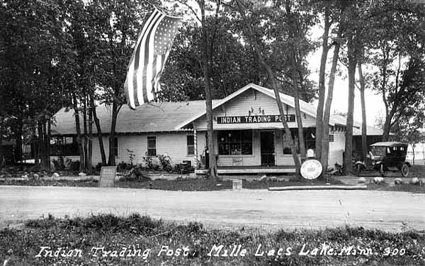 Mille Lacs Indian Trading Post, c. 1929