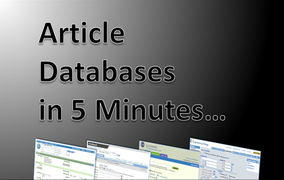 "Link to video ""Article Databases in 5 Minutes"""