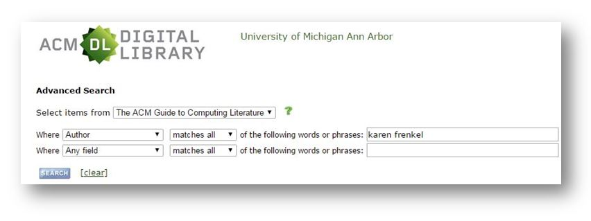 screen shot for author Karen Frenkel