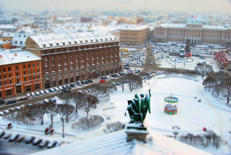 photo of St. Petersburg in winter