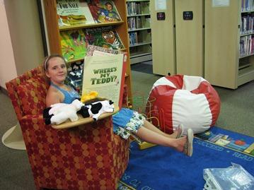 picture books at Orillia campus Library