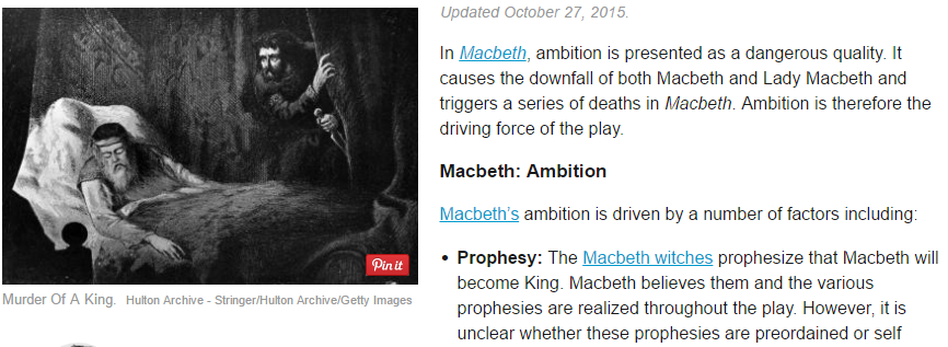 the theme of macbeths ambition in shakespeares play macbeth This lesson will uncover main quotes surrounding the themes of ambition and power in shakespeare's 'macbeth,' exploring how macbeth's personal ambition is affected by the witches and lady macbeth.