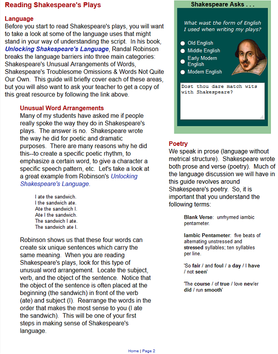 my quest to understand shakespeares style of writing Reading shakespeare's plays language before you i used when writing my plays old english: it is important that you understand the following terms.