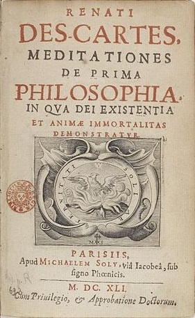 Title page of Descartes' Meditations de prima philosophia 1641 by Bibliotheque Nationale de France