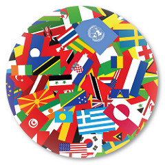 circle of international flags
