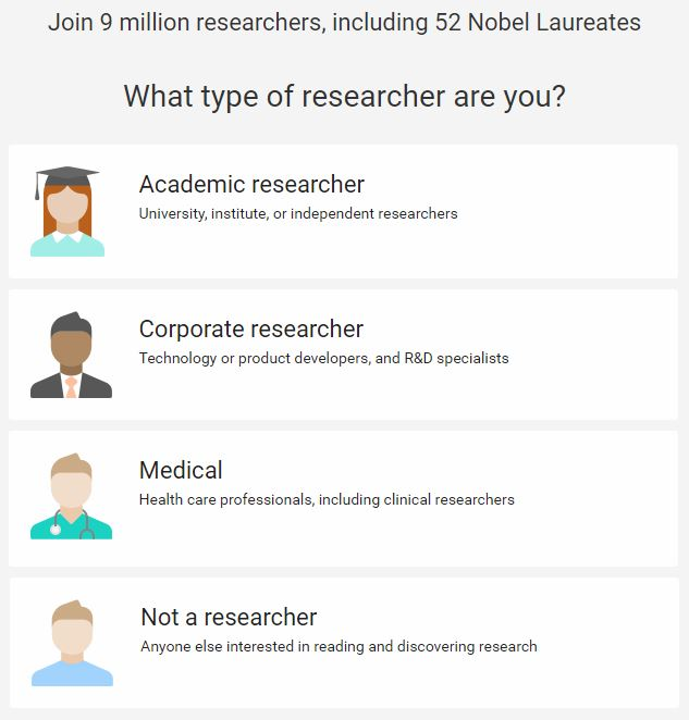 how to create researchgate account