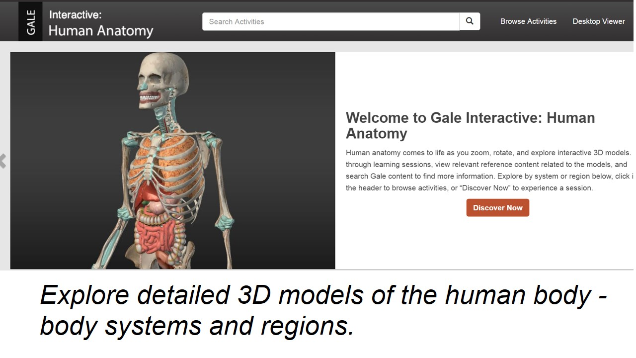 Gale Human Anatomy Database Intro