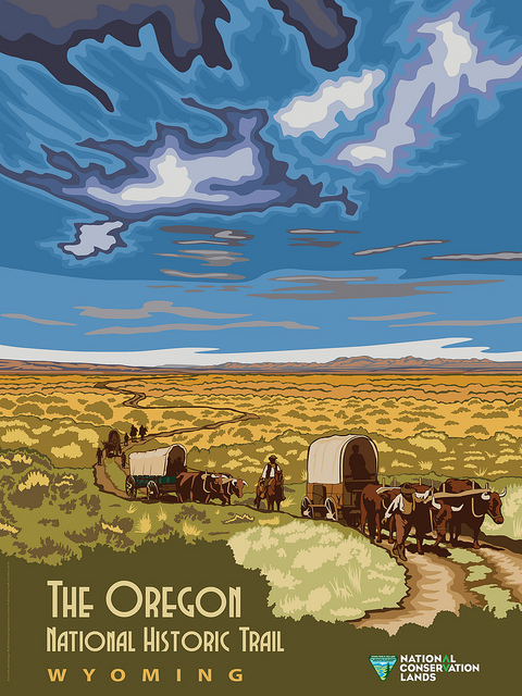 Image of National Historic Oregon Trail in Wyoming Poster