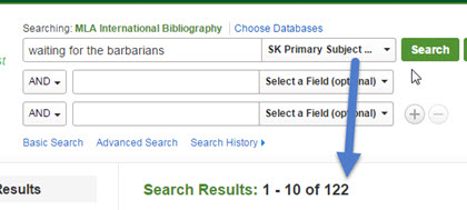 smaller search result set after limiting to primary subject work
