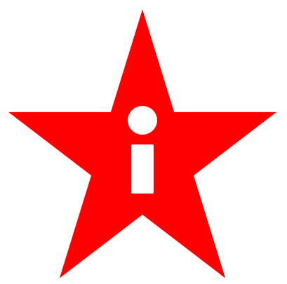 decorative image: logo of a star with the letter i.