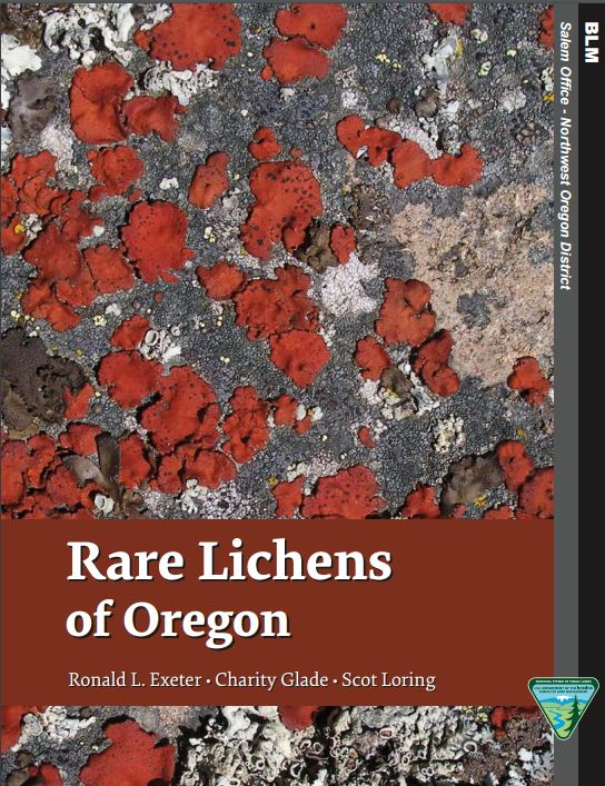 Cover of document showing bright red lichens among grey lichens