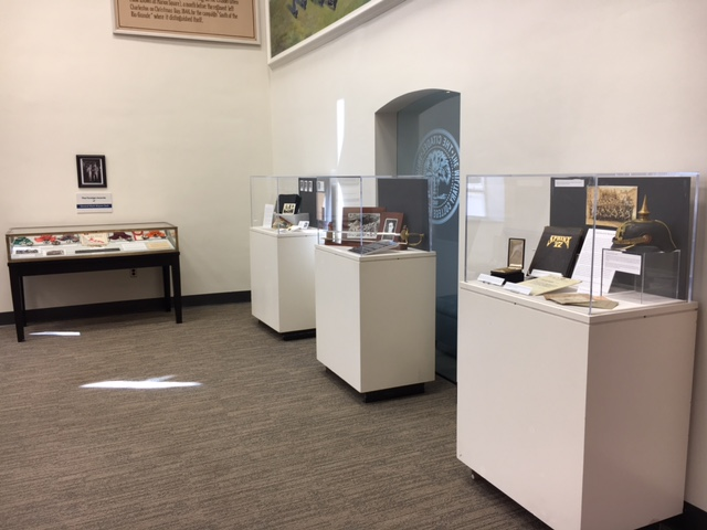 Musuem Club exhibit area on first floor daniel library