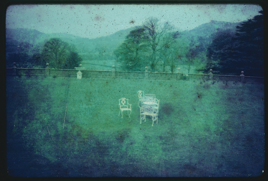 Moldy Slides: Lawn Furniture, 2014, digital print of found moldy slide, 24 X 36""