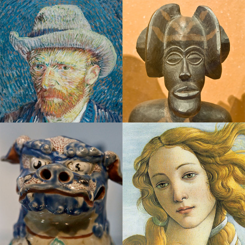 Decorative image: Montage of faces from different types of art