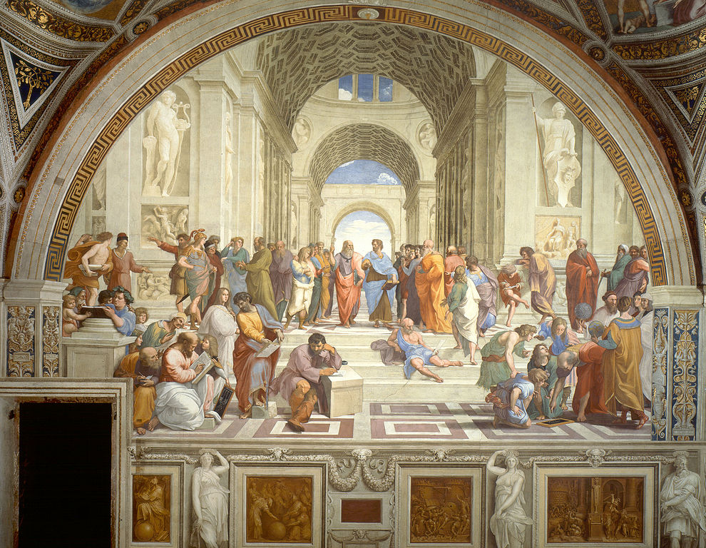 Decorative image The School of Athens, by Raphael, Vatican City