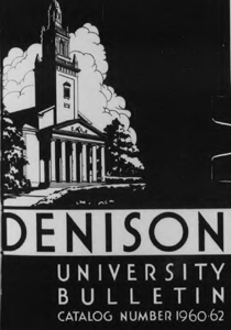 Denison University bulletin catalog number 1960-1962 cover