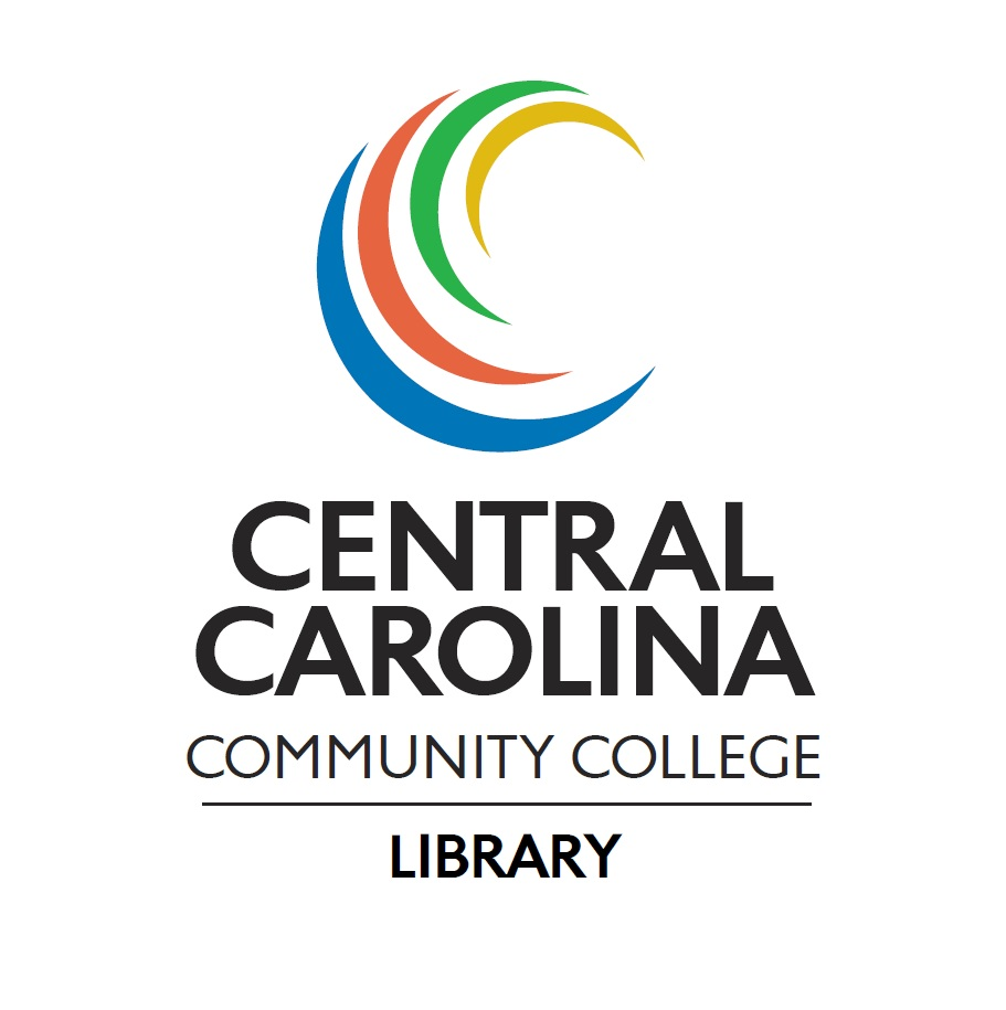 An image of the Central Carolina Community College Library Logo