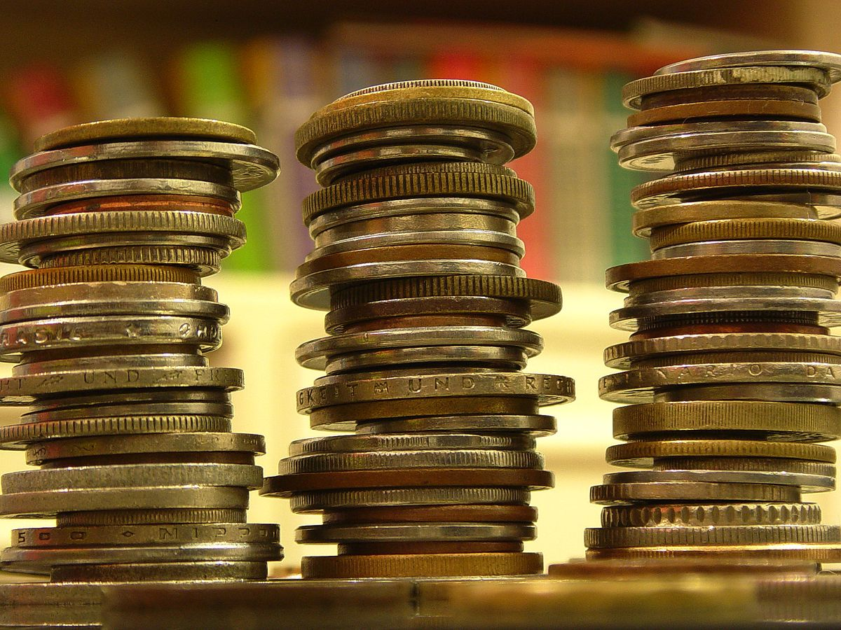 Picture of stacks of coins