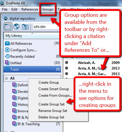Organizing References In Endnote Endnote Library Management