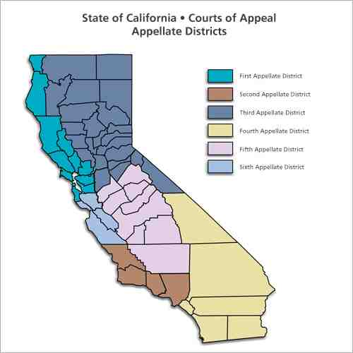 map california appellate districts
