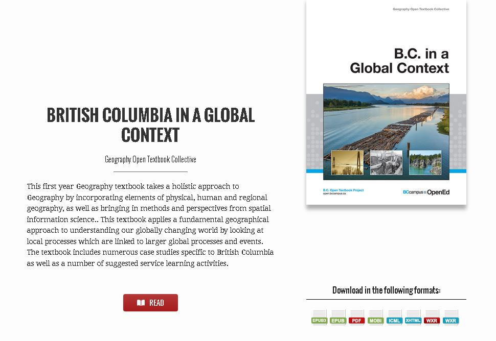 British Columbia in a Global Context textbook