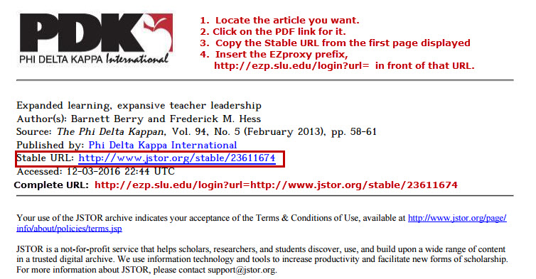 Find a stable URL for an article in JSTOR.